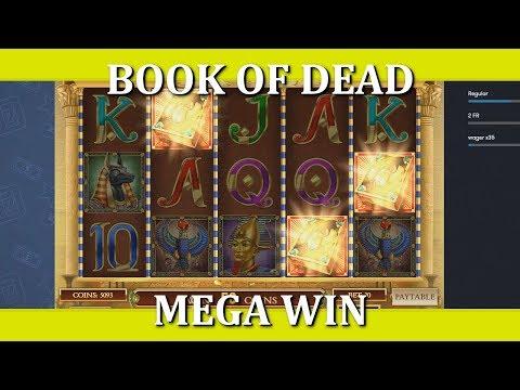BOOK OF DEAD – MEGA WIN + MEGA TEASE.. TWICE!! 2€ BET