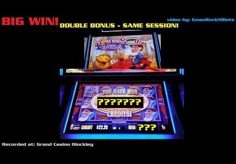 Wild Ameri'Coins Slot Machine Double Bonus BIG WIN!