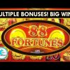 88 Fortunes Slot Machine – Multiple Bonuses – Big Wins!