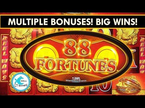 88 Fortunes Slot Machine – Multiple Bonuses – Big Wins!