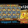 MY BIGGEST SLOT WIN.. INSANE 1200x On Legacy Of Dead! ($12000+)