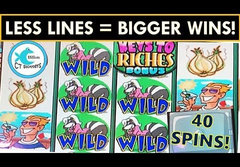 IT WORKS! BIG WIN PLAYING LESS LINES ON STINKIN' RICH SLOT MACHINE! FULL PAY RETRIGGERS!