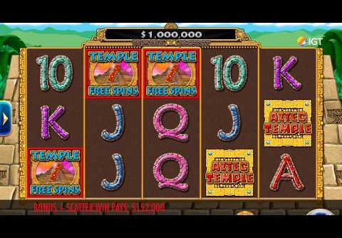 "AZTEC TEMPLE Video Slot Casino Game with a ""BIG WIN"" FREE SPIN BONUS"