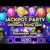 Jackport Party Ultimate Party Spin Slot Machine First Look Bonus BIG Win