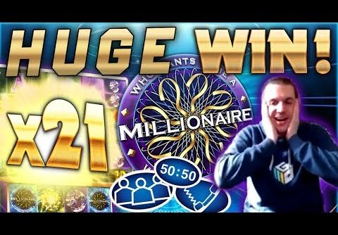 HUGE WIN on Who Wants To Be A Millionaire Slot – £5 Bet
