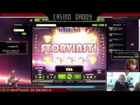 Starburst – super mega big win – 3 stars – Casino Streamer