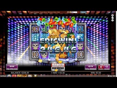 MEGA WIN – Danger! High Voltage – High Voltage Free Spins – NEW Big Time Gaming Slot
