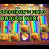 NEW SLOT: HUGE WIN ON LEPRECHAUN'S GOLD RAINBOW OASIS SLOT.