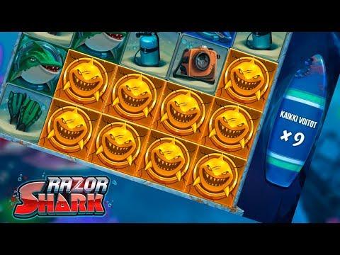SUPER MEGA WIN ON RAZOR SHARK (Push Gaming)