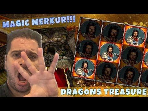 YOUTUBE RECORD WIN Dragons Treasure @ €1.50 Stake!!! – More Merkur Magic!!