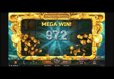 Temple of nudges slot from NetEnt (RESPINS, BONUSES, BIGWIN, MEGAWIN, SUPERBIGWIN)