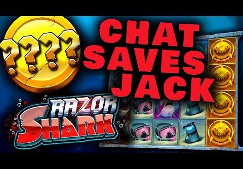 MEGA WIN thanks to chat! (Razor Shark slot)