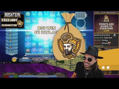 ROSHTEIN Huge win 35 000 € on Sword of  Khans  slot    Epic Bonus Hunt on Stream
