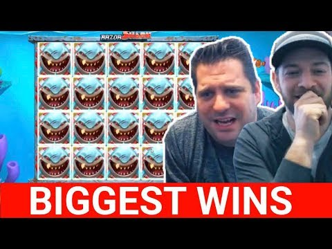 Streamers Biggest Wins #7 HUGE WIN RAZOR SHARK daskelelele, jjcasino, fruity slots