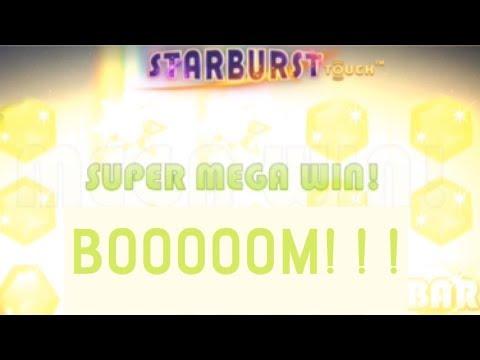 SUPER MEGA WIN on Starburst slot