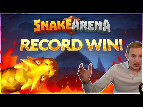 RECORD WIN! Snake Arena Big win – HUGE WIN – NEW SLOT Bonus Buy from Casinodaddy Live Stream