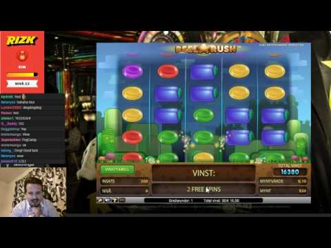 Super big win on Reel Rush from wheel of Rizk FREESPINS