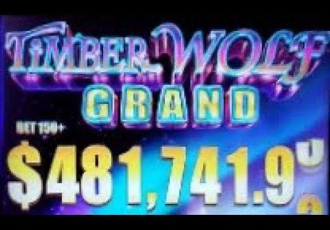BIG WINS on TIMBER WOLF GRAND SLOT MACHINE POKIES BONUSES  RED ROCK CASINO