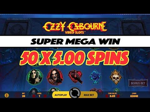 SUPER MEGA WIN on the NEW Ozzy Osbourne™ Slot by NetEnt – 50 x £5 Spins