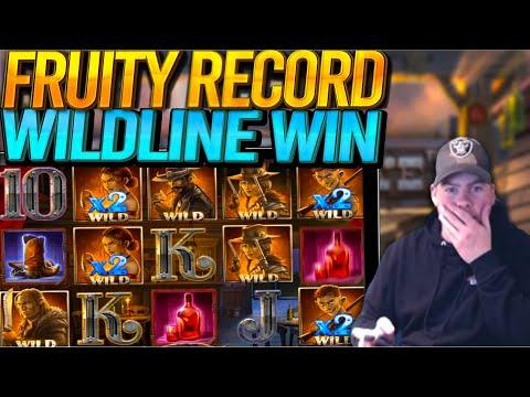FRUITY SLOTS RECORD DEAD OR ALIVE 2! Insane Wildline Win!