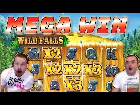 MEGA WIN – Wild Falls gold rush bonus