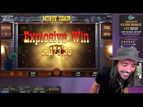 Roshtein 185k Record Win on Money Train