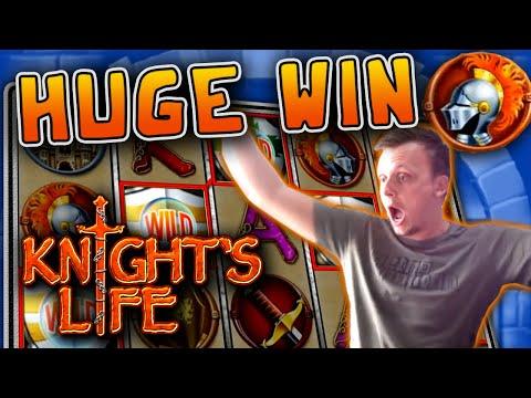 HUGE MEGA WIN on KNIGHTS LIFE!!