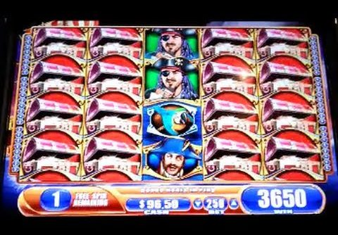 Pirate Ship Max Bet Bonus Huge Super Big Win WMS Slot Machine