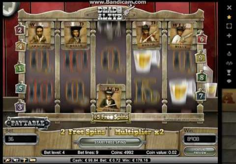 Dead Or Alive Slot (Netent) Return of the posterboys – Mega Win.