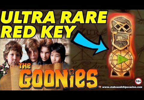 THE GOONIES SLOT 🔑🚨 Inc RED KEY !! 🔑 💀 Online Casino BONUS WINS !!