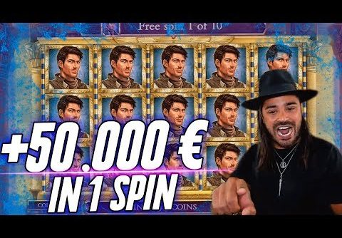 ROSHTEIN WIN 50.000 € in 1 Spin – Huge Win  Book of Dead slot