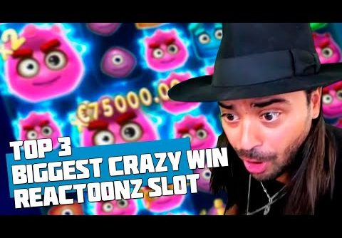 BIG WIN! TOP 3 BIGGEST CRAZY WIN! ROSHTEIN WON IN A SLOT MACHINE REACTOONZ! WIN 79K EUROS!