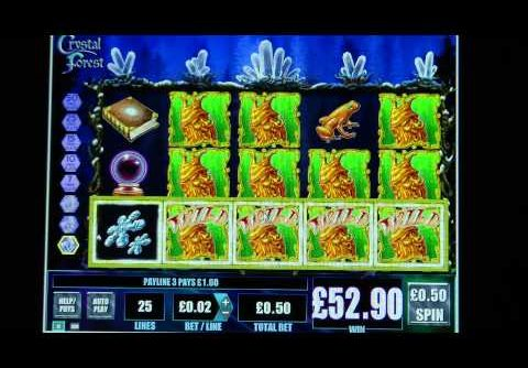 £56.30 SUPER BIG WIN (112 X Stake) on Crystal Forest™ slot game at Jackpot Party®