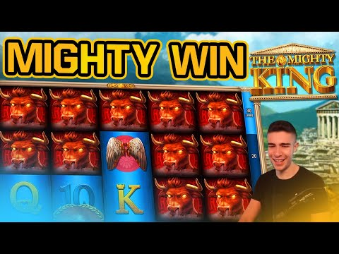 FIRST BONUS ON THE MIGHTY KING! | BIG WIN ON GAMOMAT ONLINE SLOT MACHINE