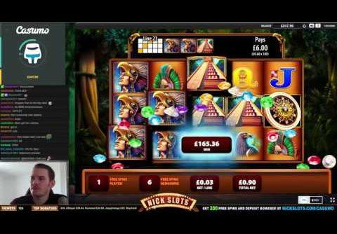 SUPER MEGA WIN on Montezuma Slot – £0.90 Bet