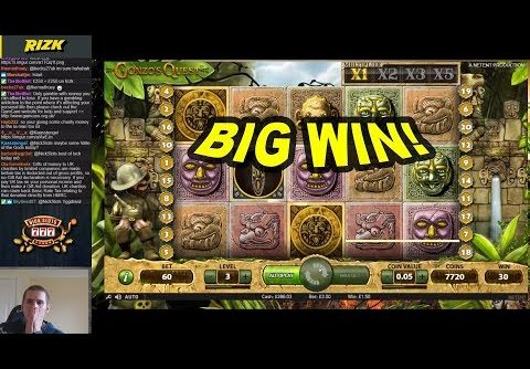 BIG WIN on Gonzo's Quest Slot – £3 Bet