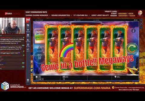 Genie Jackpot Megaways with a Mega win (bonus buy)