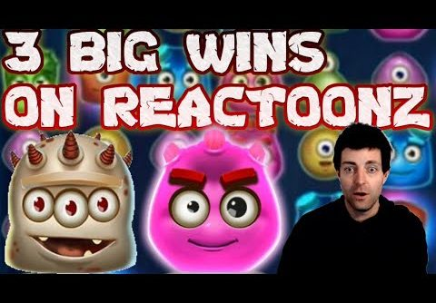 3 Massive Wins on Reactoonz Online Slot | Big Win on Reactoonz Play n Go