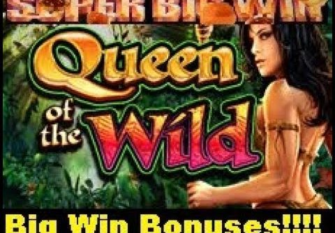 Big Win/SUPER Big Win Bonus Compliation! Queen of the Wild Slot Bonuses