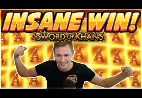 INSANE WIN! Sword Of Khans Big win – NEW SLOT – Casino Games from Casinodaddy Live Stream