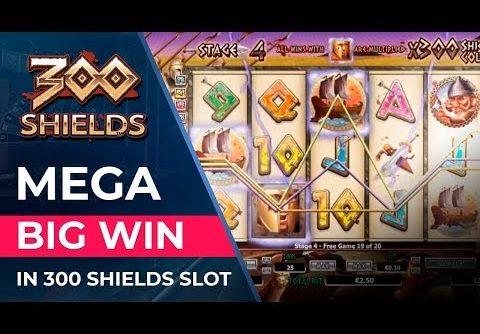 Mega big win in 300 Shields slot