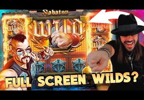ROSHTEIN  win Full Screen Wild  on Sabaton  slot – Top 5 Biggest Wins of week