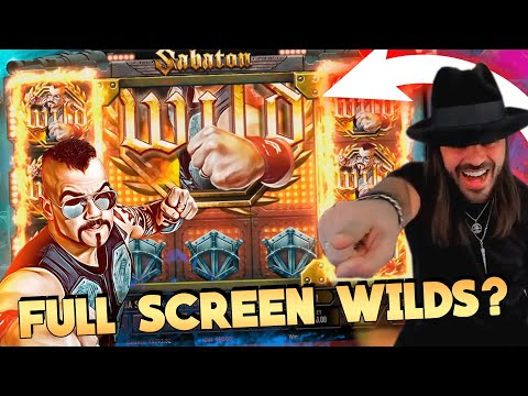 ROSHTEIN  win Full Screen Wild  on Sabaton  slot – Top 5 Biggest Wins of week