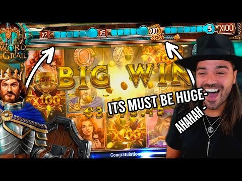 ROSHTEIN HUGE WIN on The Sword and Grail slot  – Top 5 Biggest Wins of September