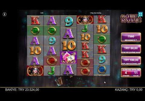 Bonusizle Slot | White Rabbit Oyununda Şapkadan Mega Win Çıkardım!!! #slots #bigwin