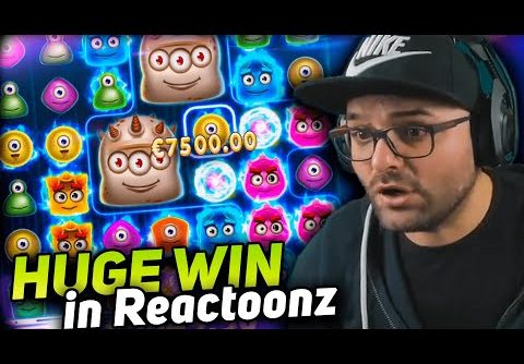 Andypsx Huge win 10.000 € on Reactoonz slot – TOP 5 mega wins in casino online