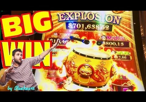 DANCING DRUMS EXPLOSION slot machine GOLD DRUMS BONUS and MEGA WIN on The Walking Dead 2 slot game