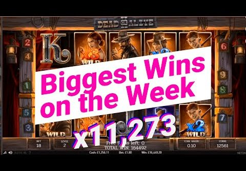 🔴 BIGGEST WINS OF THE WEEK #6 – Dead of Alive 2 slot [x11273] – 🚨ONLINECASINOPOLICE🚨 COMPILATION