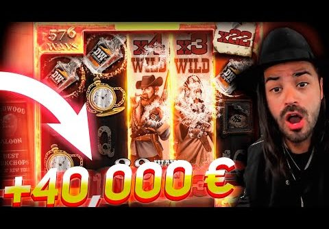 Streamer RECORD Win 40.000€ on Deadwood Slot – TOP 3 BEST WINS OF THE DAILY !