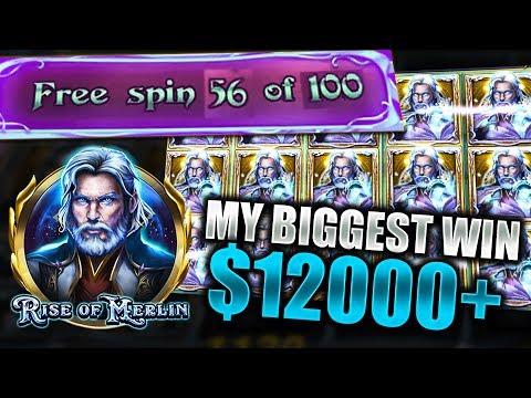INSANE $12000+ RISE OF MERLIN SLOT WIN! 1100x